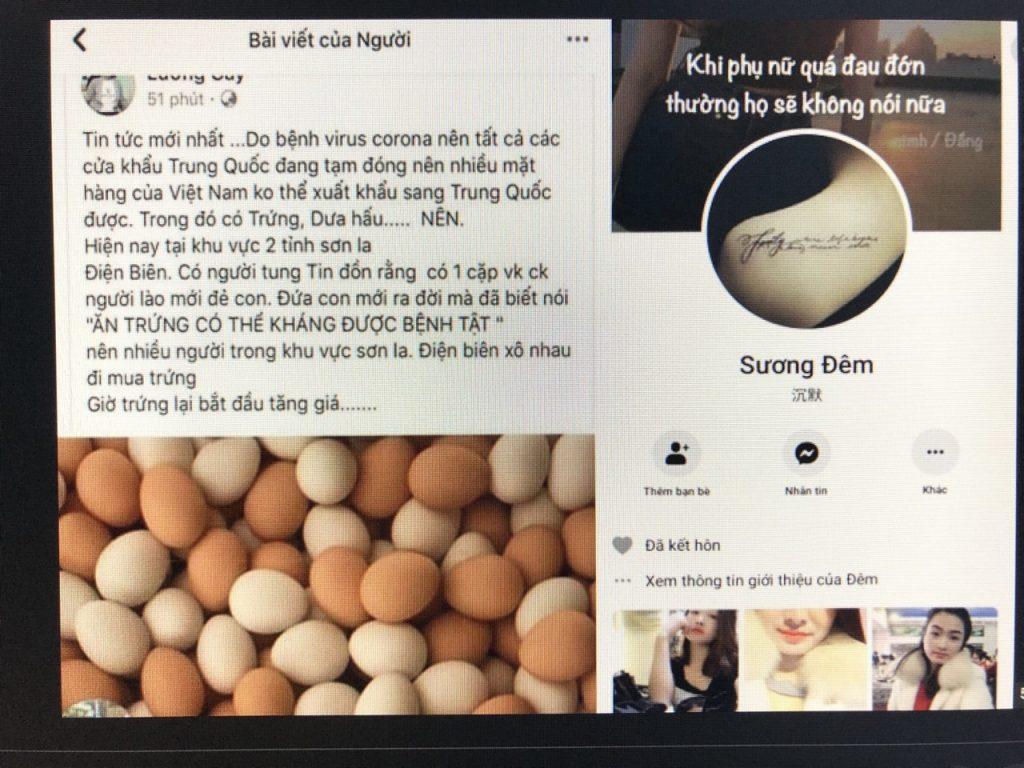 trứng luộc corona