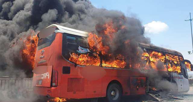 cháy xe khách ở thanh hóa